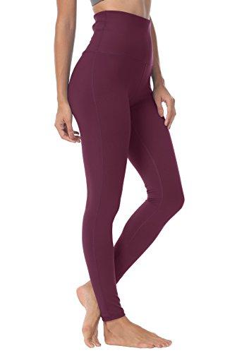 QUEENIEKE Pantaloni Da Yoga A Vita Alta Da Donna Pantaloni Da Corsa Leggings Colore Buio Rosa Rossa Taglia XS (0/2)