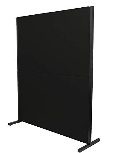 PIQUERAS Y CRESPO Modelo Valdeganga - Biombo separador para oficinas y centros de trabajo, desmontable y con estructura de color negro - Tapizado en tejido ARAN color negro