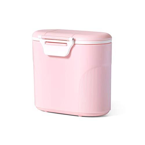 Milchpulver-SpenderTragbarer Baby Milchpulver Behältermilchpulver container mit Gleichmacher 600ML (Pink)