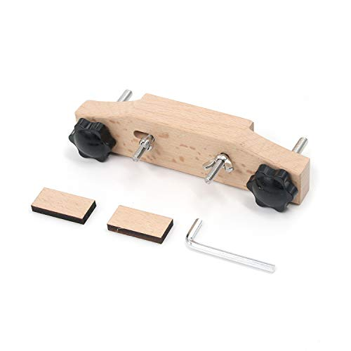 Geesatis Luthier Tools Maple Guitar Bridge Clamp 1 Set Guitar Fixture Clip Guitar Bridge Repair Replace Tool, Wood, Stainless Steel