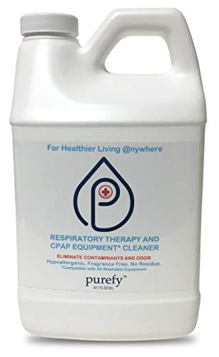 PUREFY CPAP Equipment Cleaner and Pre-wash (68oz). No Rinse. No Residue. Unscented. Eliminate Contaminants and Odor