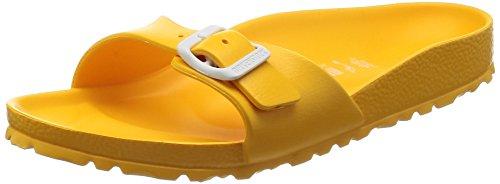 Birkenstock Madrid, Zuecos Mujer, Amarillo (Scuba Yellow Scuba Yellow), 36 EU (étroit)