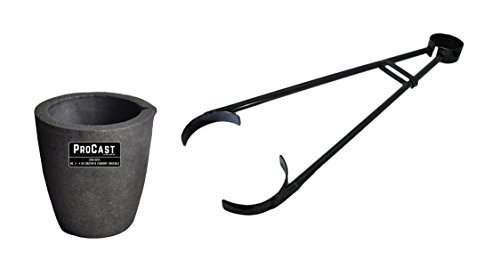 #3-4 Kg Clay Graphite Foundry Crucible Kit w/ 26' Foundry Crucible Flask Tongs Gold Silver Metal Refining Casting Tool