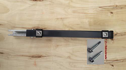 Verlängerung Zaun Erhöhung Pfosten Zaunpfosten Aufstocken Doppel Stab Matten 40 cm Anthrazit