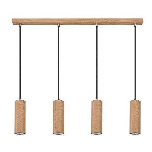 LED Pendelleuchte Pipe II Holz Eiche geölt 4-flammig 4 x 5W GU10 warmweiß