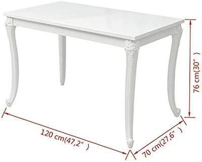COMIFORT T24W - Mesa De Comedor Extensible Moderna de 140 a ...