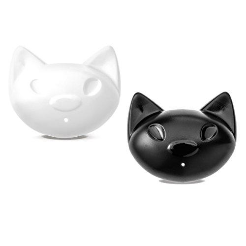 koziol salière & poivrière Miaou, thermoplastique, noir/blanc, 2,8 x 5,8 x 5 cm