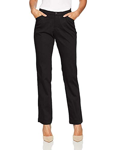 Lee Women's Flex Motion Regular Fit Straight Leg Pant, Black, 12
