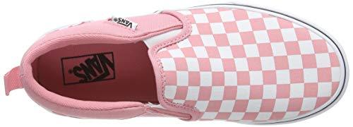 Vans Asher, Slip-on Sneaker da Ragazza, Rosa ((Checkerboard) Pink Icing/White WF9), 34 EU