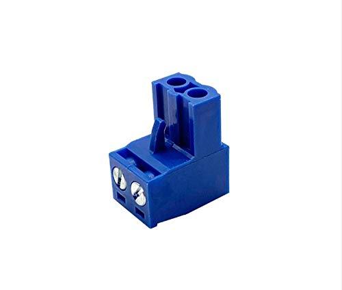 YUNJINGCHENMAN 20PCS HT5.08 2pin Terminal Plug Type 300V 10A KF2EDGK 5.08mm Pitch PCB Connector Terminal Block 3D Printer Parts (Color : Green)