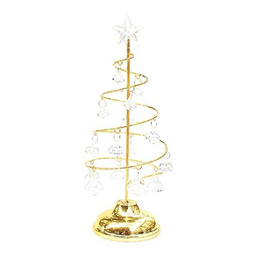Fenteer Luz de árbol de Navidad con Pilas Luz Nocturna para niños Regalos para niños Luces de Mesa Decoración para el hogar - Oro L