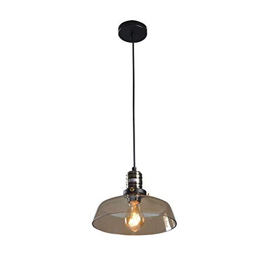 E27 hanglamp glazen hanglamp retro industrie hanglamp LED hanglamp plafondlamp keuken industire lamp eettafel eetkamer slaapkamer cafés bar lamp barnsteen