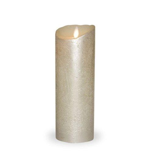 sompex LED-Echtwachskerze Silber METALLIC 8 x 23cm