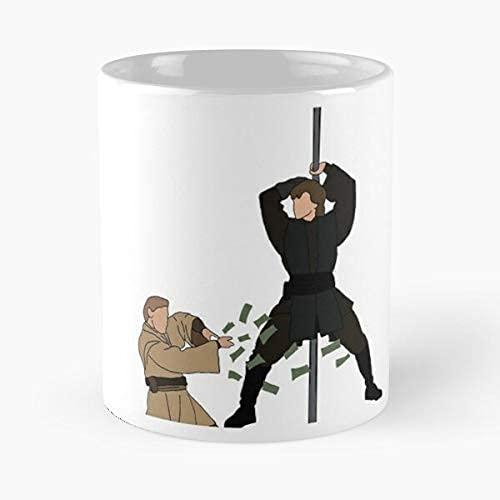 VJSDIUD Meme Hayden Anakin Christensen Ewan Mcgregor Stripper Obi Star divertida taza de café de cerámica blanca de 11 onzas para hombres, mujeres, niños, niñas, etc.