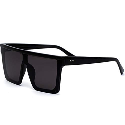 Mode Übergroße Sonnenbrille Siamese Lens Sonnenbrille Frauen Männer Flat Top Sonnenbrille Succinct Style UV400