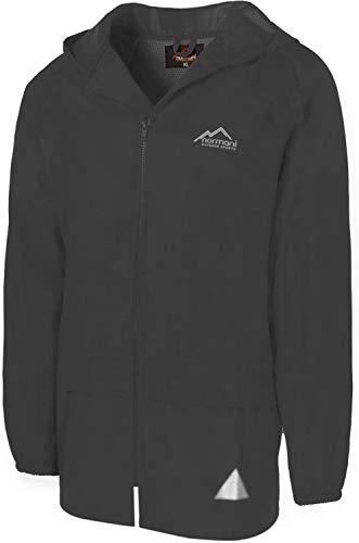 normani Leichte Windjacke/Regenjacke im Beutel, Unisex - Erwachsene Farbe Dark-Grey Größe M