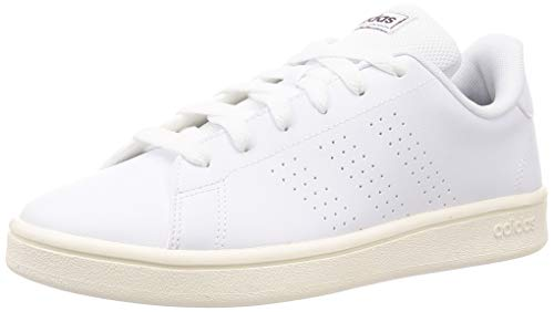 adidas Advantage Base, Scarpe da Tennis Uomo, Ftwr White/Ftwr White/Cloud White, 43 1/3 EU