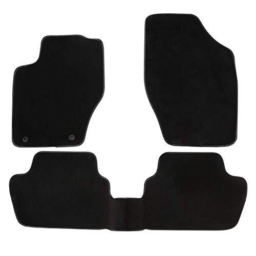 DBS Tapis de Voiture - sur Mesure pour 307/307 SW (2000-2009) - 3 pièces - Tapis de Sol antidérapant pour Automobile - Moquette Premium