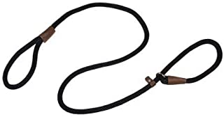 "Warner Braided Nylon Rope British Slip Lead Dog Leash 1/2"" X 6 Ft. (Black)"