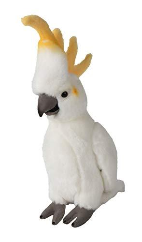 WWF WWF00835 Plüsch Kakadu weiß, realistisch gestaltetes Plüschtier, ca. 24 cm groß und wunderbar weich