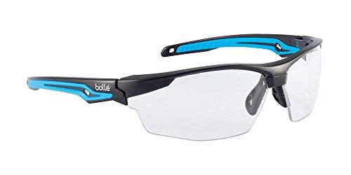 Bolle Safety 40301, Tryon Safety Glasses Platinum, Black/Blue Frame, Clear Lenses