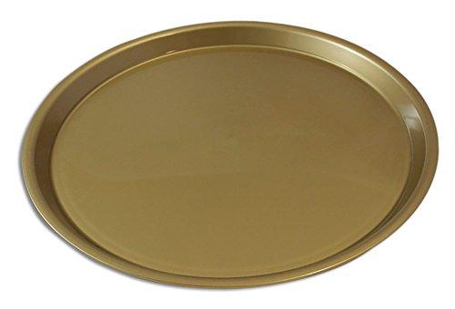 Serviertablett Durchmesser 370 mm rund rutschfest (Gold)