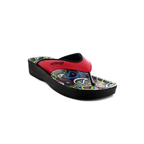 Aerosoft Footwear Damen A0862-RED-8 Zehentrenner, rot, 8 EU