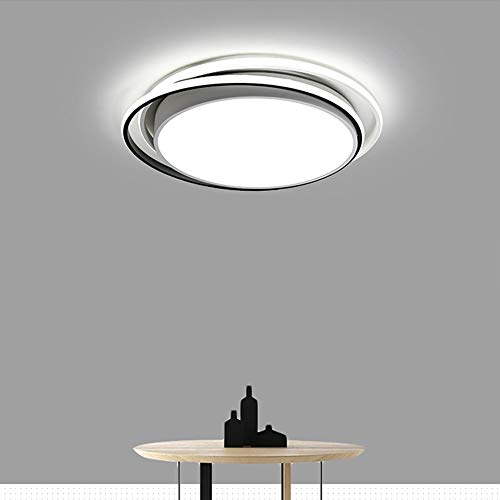 Warm Home 3 Discoloration Light Individual Circular LED Ceiling Lamp Diameter 48 * 6cm Acrylic 36W White Living Room Bedroom Den Nordic Modern Ideas