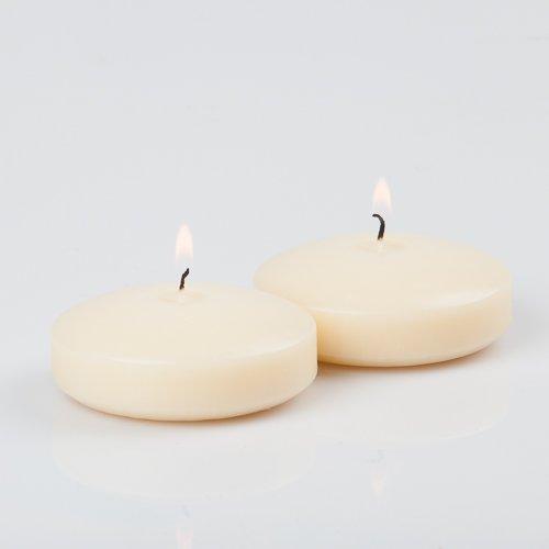 Set of 12 Floating Candles 3', Ivory