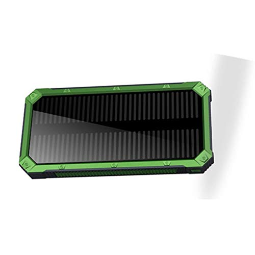 Portable Compact Huge Capacity Power Bank Charger 70000Mah Solar Panel Dual USB Battery Pack Charger Emergency Mobile External Battery Compatible Smartphone Tablet,Green,70000