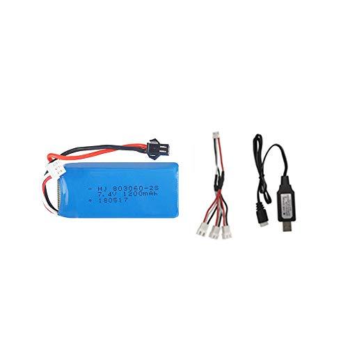 mrwellog 7.4V 1200mAh 2S Batteria Lipo Set per H26 H26C H26W H26D H26HW Telecomando Elicottero Quadcopter Drone Pezzi di Ricambio-B_1 PZ