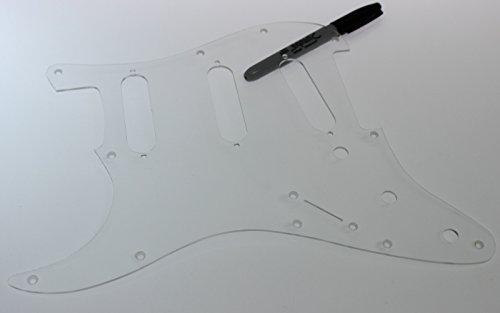 Left Handed 11 hole Lefty SSS Clear Pickguard fits Fender Stratocaster Strat