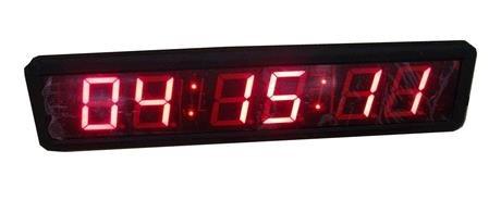 GOODRELIISH 2.3'Alta Character LED Reloj de Pared Digital Cuenta atrás y Temporizador de hasta por Infrarrojos Mando a Distancia, Rojo
