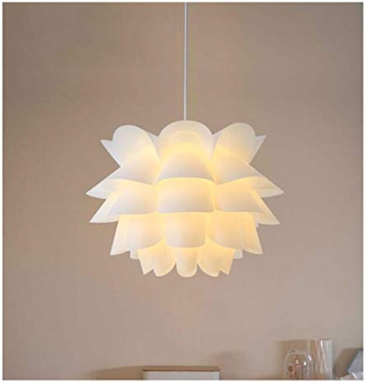 THOR-BEI Kronleuchter- Moderne Einfachheit Pendelleuchte Wei Lotus Kronleuchter Nordic Kreative PP Kronleuchter Beleuchtung -1859k (Größe   Small)