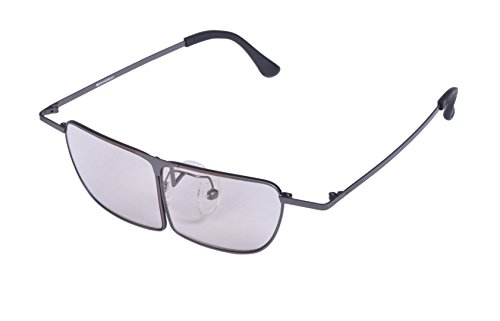 ESCHENBACH ルーペ メガネ型ルーペ メガネの上から使用可能 ラボズーム ガンメタ 1.8倍 2998-1330