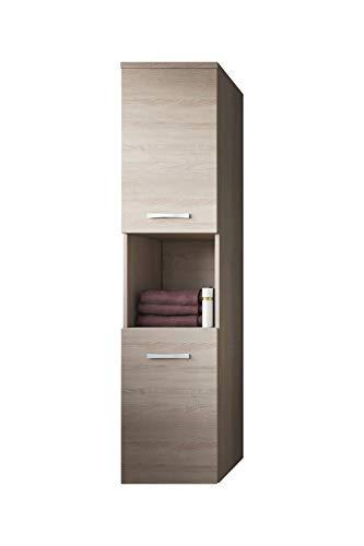 Badplaats B.V. Badezimmer Schrank Montreal 131 cm Sonoma Eiche – Regel Schrank Hochschrank Schrank Möbel