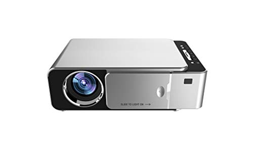 Qawachh T6 Full HD WiFi Projector,Lumens-1200,20000 Led Lamp Life 1080p-Silver