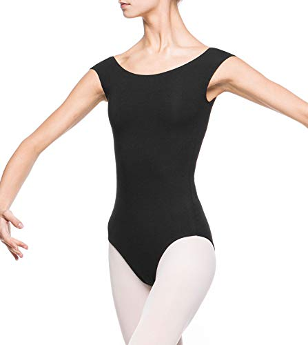 Arabesque Klassische Tanzkleidung Damen Ballettanzug Body Raymonda (Schwarz, M)