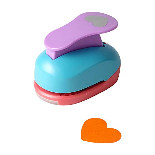 Heart Punch 2 inch Craft Lever Punch Handmade Paper Punch for Crafting Scrapbooking,DIY Card Making Candy Colour by Random 2 inch Heart