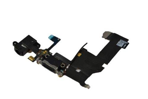 Compatible con el Sistema de Carga iPhone 5 Flex Connector con Audio Flex Cabel Black