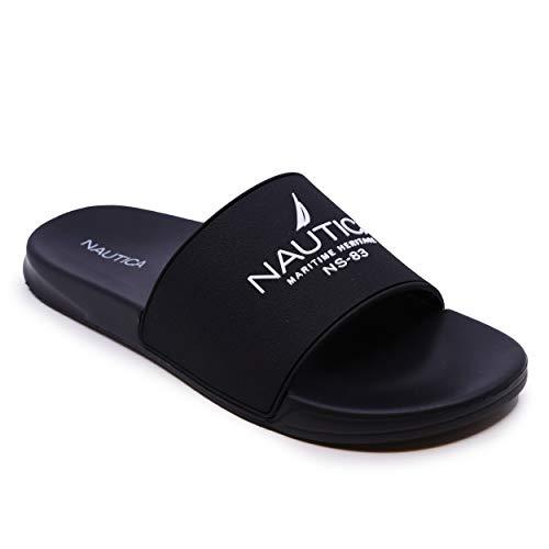 Nautica - Sandalia deportiva para hombre, negro (Negro/Blanco Porter), 41 EU