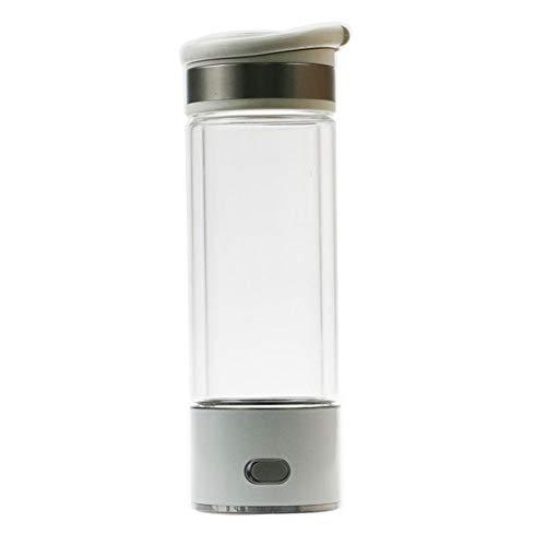 420 Ml Wasserstoffreiches Wasser Ionizer Maker Generator Alkalische Wasserkocher PEM-Technologie Stellen Sie Den Wasserstoffgehalt Auf 800-1300 PPB Ein Für Tragbaren Wasserfilter Zum Wandern, Camping