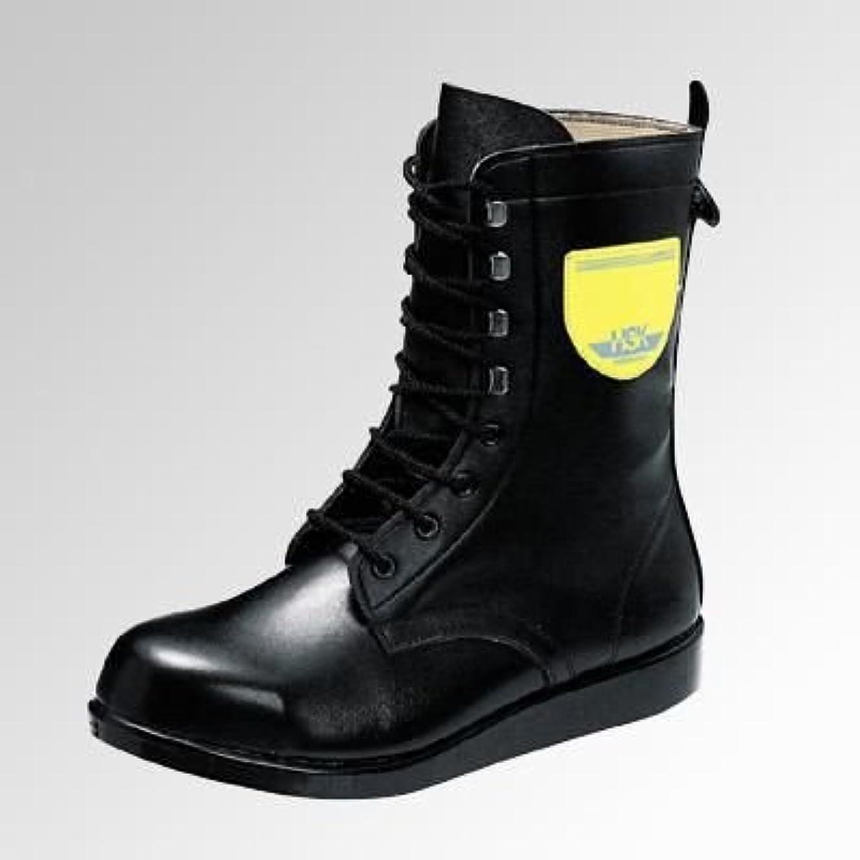 [ノサックス] アスファルト舗装工事用安全靴 締緩自在の編上げタイプ《074-HSK207》