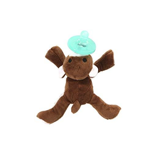 WangsCanis Chupete de Silicona para Bebés Niños con Dibujos Animados Bonitos Chupete de Resistente Ortodoncia Tetina Redonda Juguete de Animales Chupete para Pezones(Oso, Talla Única)