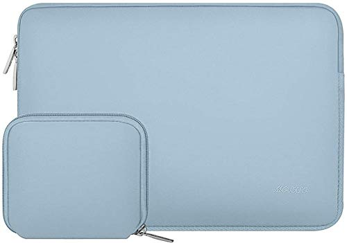 Bolso De Manga Portátil De Neopreno Moso para 11 13 13.3 14 15 Pulgadas MacBook Air Pro Touch Barra De La Barra Portátil para DELL HP (Color : Airy Blue, Size : For Macbook 12 Inch)