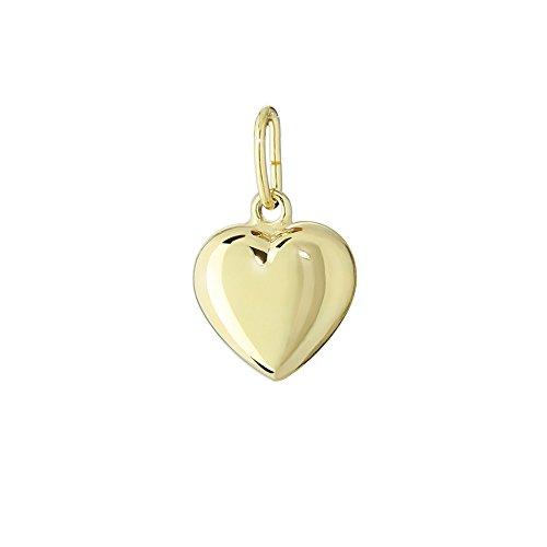 NKlaus 333 catene pendenti a cuore in oro giallo oro giallo lucido 8,6x8,3mm ragazze 4758