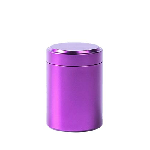 SUJING 80ML Airtight Multi-Use Vacuum Seal Portable Storage Container - Dry Goods Food Tea Coffee Sugar Kitchen Storage Canisters Jars Pots Containers Tins purple