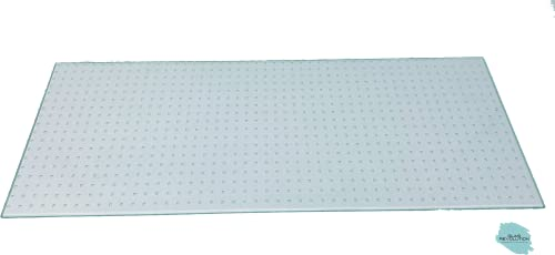 Kühlschrank Einlegeboden | Glasplatte | Gemüsefach/Ersatzglas - Ornamentglas Master Carré - 4 mm Stärke (45,0 cm x 20,0 cm)