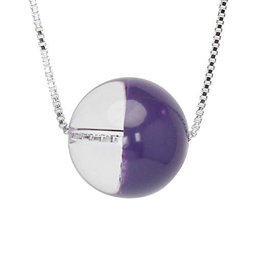 真珠の杜 水晶 ネックレス クォーツ SV925 シルバー925 銀 色漆 紫色 銀色 ペンダント スルーネックレス レディース 誕生石 4月 dpn658-714pps