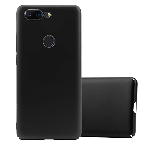 Cadorabo Hülle für OnePlus 5T in Metall SCHWARZ - Hardcase Handyhülle aus Plastik gegen Kratzer & Stöße - Schutzhülle Bumper Ultra Slim Back Hülle Hard Cover